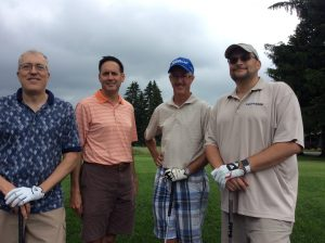 Group Picture of the golf Players at the 10th Annual Golf Tournament for east Hills Recreation - 9